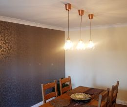 Copper Hanging Dining Table Lighting